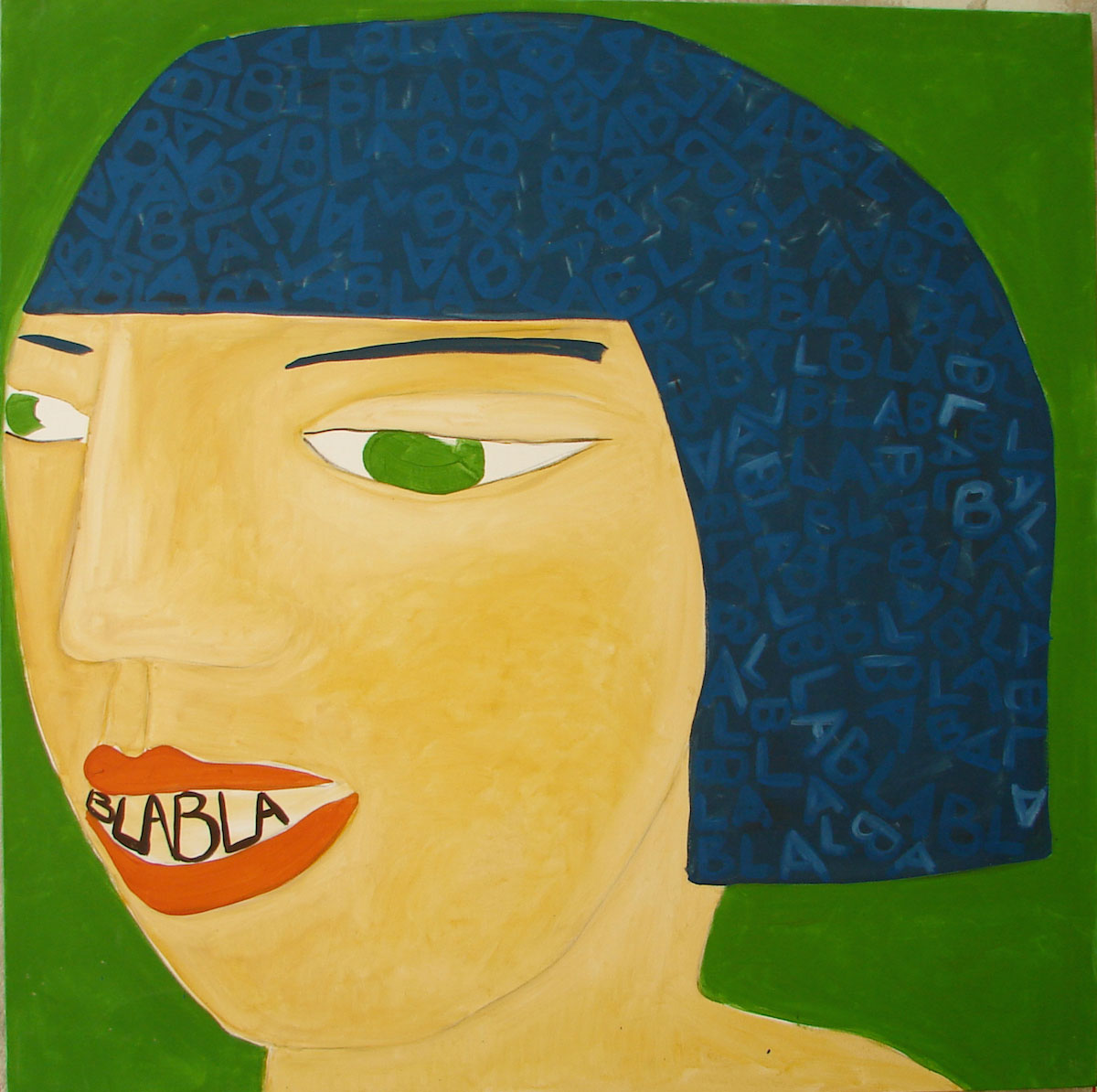 VIVIANA  pigment and acrylic on canvas. 100x100cm. 2008