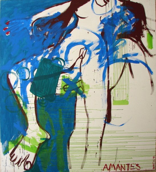 AMANTES  mixed media on canvas. 2007