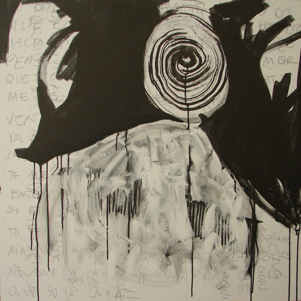 BERLIN  ink and pencil on canvas. 100x100cm. 2009