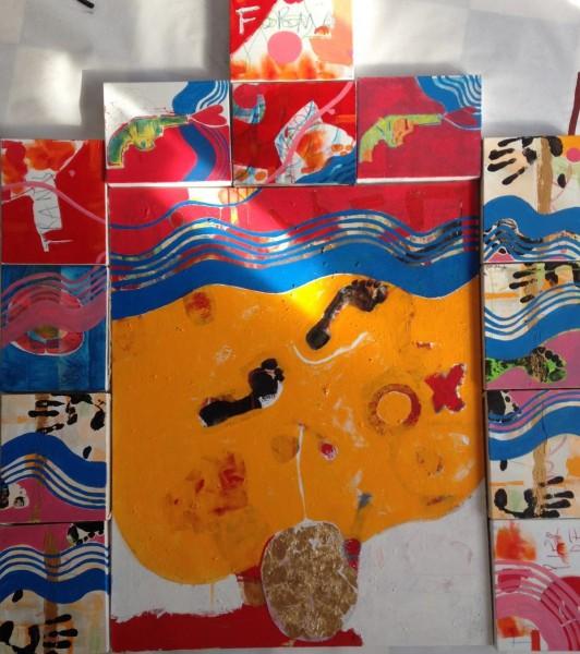 """...""  mixed media on canvas. 110x140 cm. 2015"
