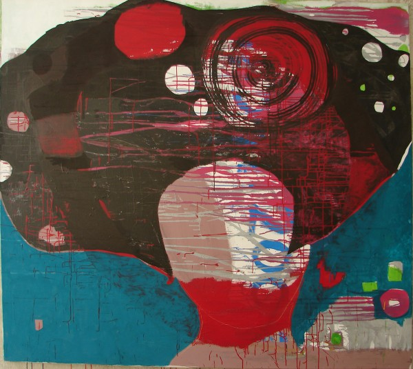 MI CABEZA. mixed media on canvas. 200x180cm. 2009
